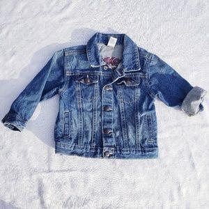 4/$25 Oshkosh b'gosh denim jacket size 24m (J)